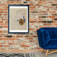 3224 Art Print//Poster The Embrace Egon Schiele