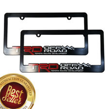 2)  TRD-License-Plate-Frame-Toyota-TRD-Offroad-Takoma-FJ-Cruiser-4x4-Yaris-Rally