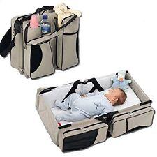 3 in 1 Diaper Bag Travel Bassinet Change Station Cream Multi Purpose Baby Tote