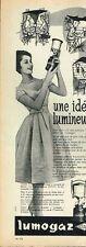 H- Publicité Advertising 1958 La Lampe Lumogaz Camping gaz