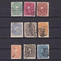 MEXICO 1885, Sc# 165-173, CV $60, Part set, Used