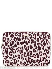 NWT Kate Spade Pink & Brown 'Cheetah' Print Laptop Case