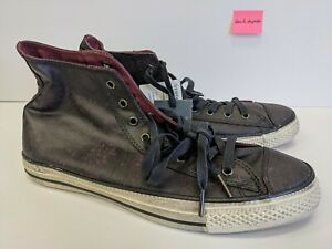 *RARE* Converse x John Varvatos Black Burgandy Sneakers Sz 11 Men's Shoe 112074