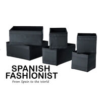 IKEA SKUBB Box storage, black, 6 piece