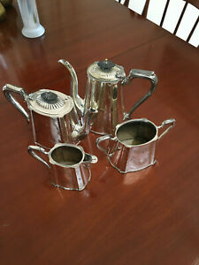 ELWORTHY & SON EXCELSIOR SILVER PLATED TEA& COFFEE SET