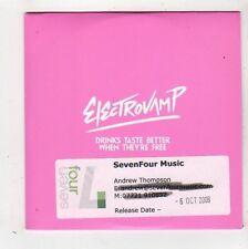 (FZ346) Electrovamp, Drinks Taste Better When They're Free - 2008 DJ CD