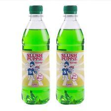 Slush Puppie 2 Pack Frozen Lime Slushie Drink 500ml Maker Syrup