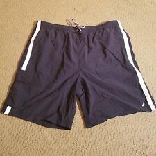 NAUTICA Men's Swim Trunks Shorts Pockets Blue with White Stripes XXL