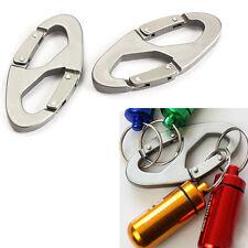 2Pcs 8-Shaped Aluminum Carabiner Clip Hook Hiking Climbing Camping Hanger Buckle