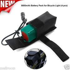 8.4V 8800mAh Rechargeable 4x 18650 Akku Pack +Tasche Für Headlamp Fahrrad Light