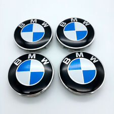 4PCS 68mm Wheel Center Hub Caps Cover Wheel Rim Logo Badge Emblem For BMW