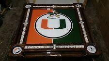 University of Miami Bringin' It Domino Table by Domino Tables by Art