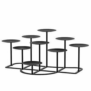 smtyle DIY 9 Mantle Candelabra Flameless or Wax Candle Holders for Fireplace ...