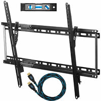 "LCD LED Flat Screen Panel Tilt TV Wall Mount Bracket Fit 20""- 80"" TVs HDMI Cable"