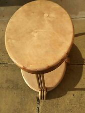 Art Deco Oval Light Wood Table