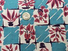 Best Vintage Feedsack Quilt Fabric 40s Turquoise Purple Plants Flour Full Sack