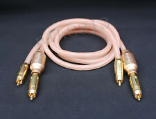 TOP HIFI Accuphase RCA Plug interconnect Audio Cable 1m/3ft Pair