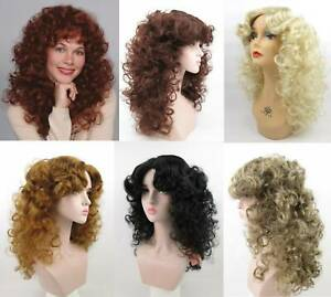 80'S WOMENS LONG MEDIUM LENGTH SOFT WAVY CURLS CURLY HAIR SKIN TOP WIG DELIHLA
