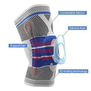 Silicone Compression Knee Support Brace Sleeve Sports Injury Arthritis Protector
