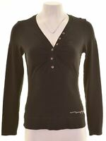 MURPHY & NYE Womens Top Long Sleeve Size 12 Medium Black Viscose  FP12