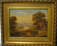 New Listing19Th Century Hudson River Valley Farm Scene Original Oil Painting