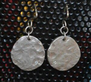 Saundra Messinger sterling earrings with diamond