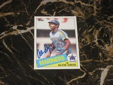 1985 TOPPS ROOKIE/AUTO CARD FROM ALVIN DAVIS #145 NM-MT