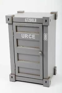 """point-home Design-Schrank """"Container"""", Retro, grau, 45cm"""