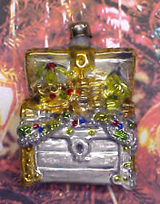 """Treasure Chest - """"Vintage Style"""" Ornament From Lauscha, Germany"""