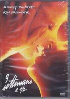 Dvd **9 SETTIMANE E 1/2** con Mickey Rourke Kim Basinger nuovo sigillato 1986