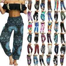 Womens Boho Baggy Harem Pants Hippie Wide Leg Gypsy Yoga Palazzo Trousers