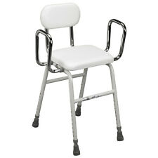 Adjustable Medical Kitchen Stool Support Padded Comfortable Elderly Strong