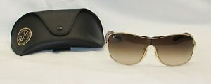 Ray Ban RB3469L Sunglasses Gold Frame & Tortoise Shell Stems with Gradient Lense