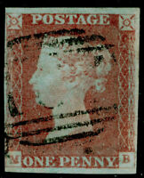 SG8, 1d red-brown, FINE USED. Cat £30. MB