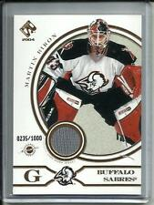 Martin Biron 03/04 Private Stock Game Used Jersey #0235/1000