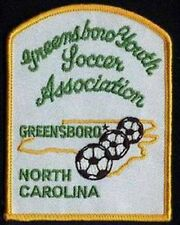 GREENSBORO YOUTH ASSOCIATION NC FOOTBALL SOCCER JERSEY LOGO PATCH NEW