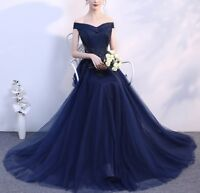 Women's Off Shoulder Cocktail Evening Dress Party Prom Formal Long Slim Dresses