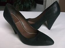 Bacio 61 Carino Womens Shoes Black Leather Heels Pumps Dress/Formal Camel 7.5M