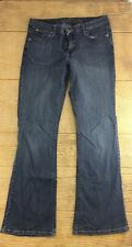 Arizona Women's Jeans Size 9 Blue Striped Pants Boot Cut Denims Casual