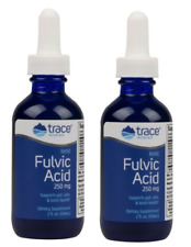Trace Minerals Ionic Fulvic Acid with ConcenTrace Liquid 59 ml 2oz x Twin pack