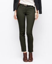 Ann Taylor Size 12 Rosemary Green Curvy Skinny Cotton Twill Jeans $89.00 (33)