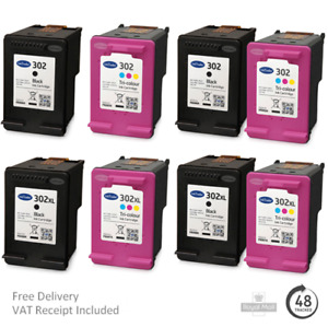 Remanufactured HP 302 & 302XL Ink Cartridges For HP Envy 4524 Printers