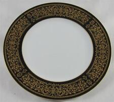"Cordon Bleu EBONY 7136  Black Rim & Gold Design, Bread Plate, 6 3/8"""