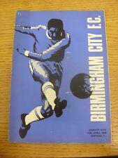 13/04/1968 Birmingham City v Cardiff City  (Creased, Folded, Worn, Pin Hole). Tr