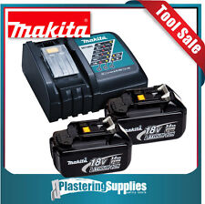 Makita 18Volt Charger with x2 BL1830 Batteries 3 Amp