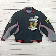 Chicago Blackhawks Jacket Youth 13-14 2010 Stanley Cup Champions Snap Down Coat