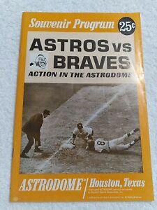 1968 Astros vs. Braves Game Souvenir Program  UNMARKED  scorecard