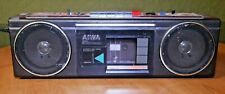 Aiwa 4 Band Stereo 210 Boombox Radio Cassette Recorder w Mono CS-210U TESTED