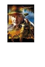 INDIANA JONES MOVIE POSTER ~ KINGDOM CRYSTAL SKULL INDY MUTT MOTORCYCLE 27x40