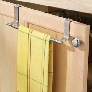 Adjustable Towel Rack Over the Cabinet Door Bar Organization Counter expandable